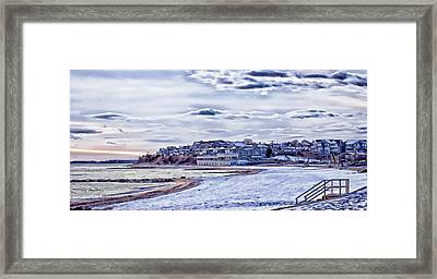 Framed Print featuring the photograph Beach In Winter Photo Art by Constantine Gregory