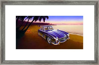 Beach Mercedes Framed Print by Andrew Farley