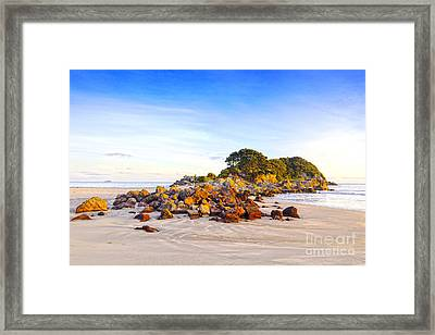 Beach Mount Maunganui New Zealand Framed Print by Colin and Linda McKie