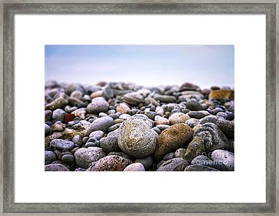 Beach Pebbles Framed Print by Elena Elisseeva