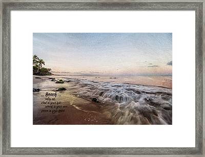 Beach Framed Print by Ramona Murdock
