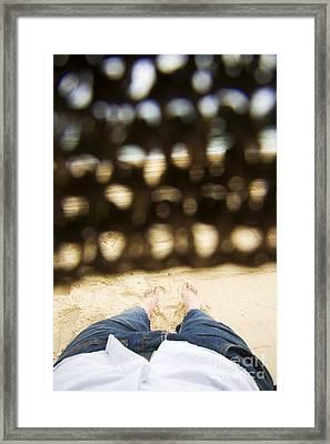 Beach Sleeper Framed Print
