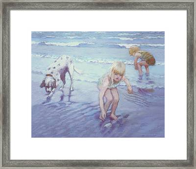 Beach Threesome Framed Print
