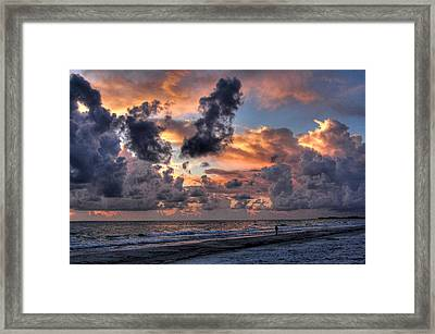 Beach Walk - Florida Seascape Framed Print by HH Photography of Florida