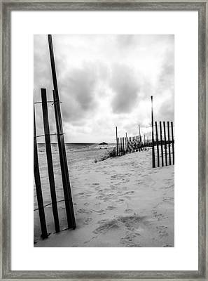 Beach Walk Framed Print by Shelby  Young