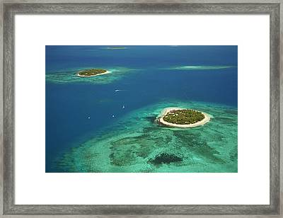 Beachcomber Island Resort And Treasure Framed Print