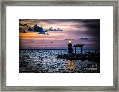 Beacon Of Hope Framed Print by Rene Triay Photography