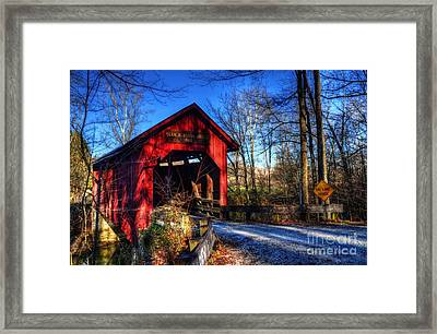 Bean Blossom Bridge Framed Print by Mel Steinhauer
