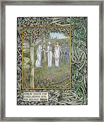 Beardsley Morte D'arthur Framed Print