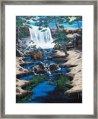 Bearing The Fall Framed Print