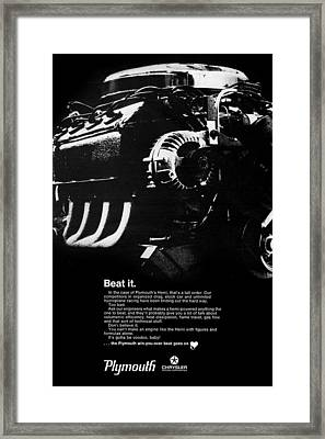 Beat It Framed Print by Digital Repro Depot