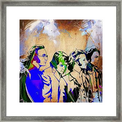 Beatles Collection Framed Print by Marvin Blaine