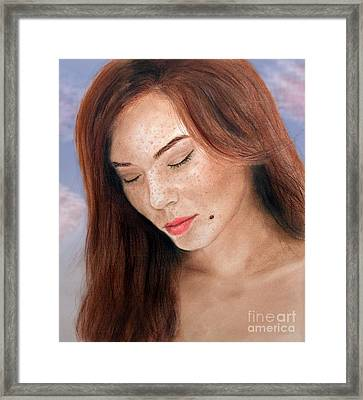 Beautiful And Sexy Actress Jeananne Goossen IIi  Framed Print