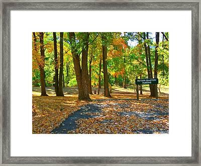 Beautiful Autumn Season Framed Print by Skyler Tipton