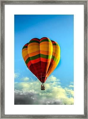 Beautiful Balloon Framed Print by Robert Bales