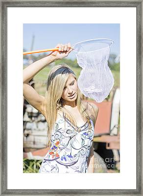Beautiful Catch Framed Print