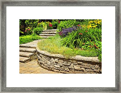 Beautiful Garden Framed Print by Boon Mee