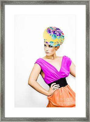 Beautiful Girl In Vintage Fashion Framed Print by Jorgo Photography - Wall Art Gallery