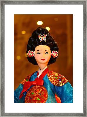 Beautiful Korean Doll Framed Print by Goy Tex