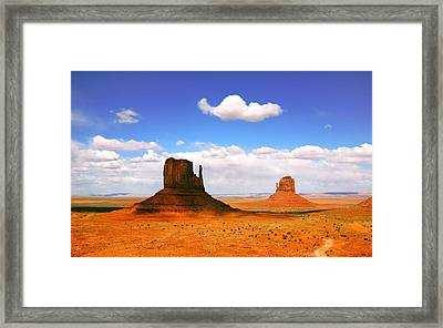 Beautiful Landscape Of  Monument Valley Arizona Framed Print by Katrina Brown