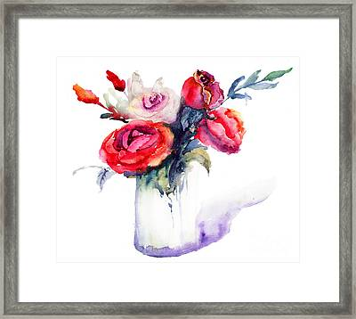 Beautiful Roses Flowers Framed Print