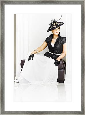 Beautiful Sexy Girl In High Fashion Framed Print by Jorgo Photography - Wall Art Gallery