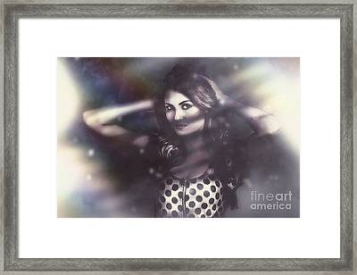 Beautiful Vintage Fashion Model. Elusive Style Framed Print by Jorgo Photography - Wall Art Gallery