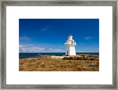 Beautiful Waipapa Point Lighthouse The Catlins Nz Framed Print