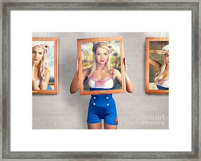 Beauty In The Art Of Picture Perfect Portrait Framed Print