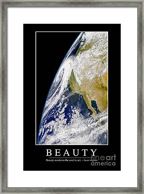 Beauty Inspirational Quote Framed Print