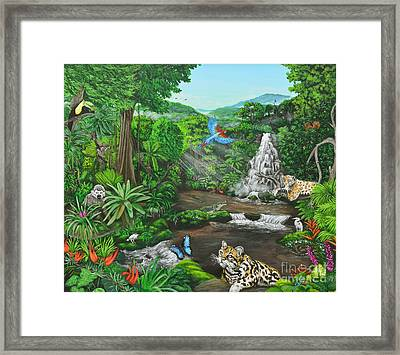 Beauty Of The Amazon Framed Print by Jeremy Reed