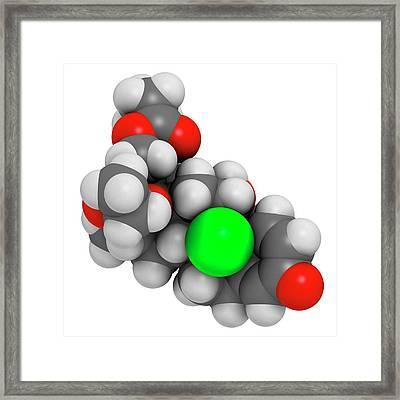 Beclometasone Dipropionate Steroid Drug Framed Print by Molekuul