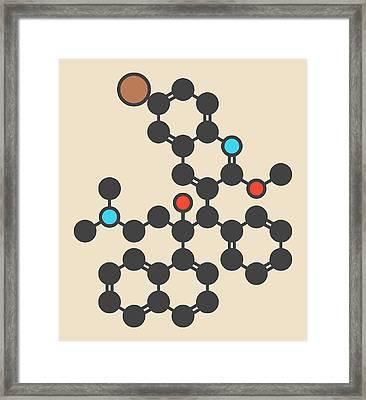 Bedaquiline Tuberculosis Drug Molecule Framed Print by Molekuul