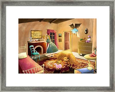 Bedtime With Polly Framed Print by Reynold Jay