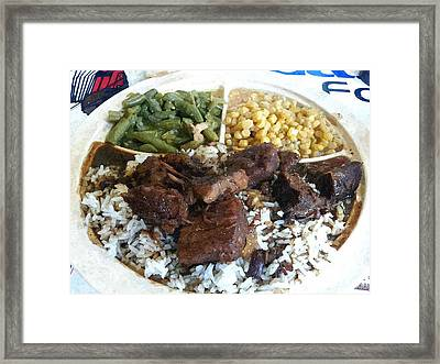 Beef Tips Framed Print by Barry Spears