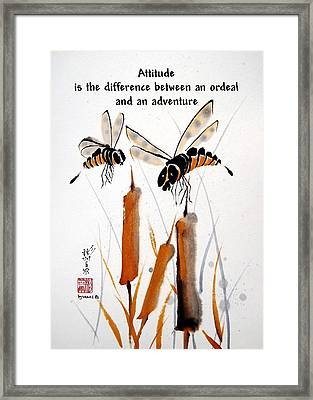 Framed Print featuring the painting Beeing Present by Bill Searle