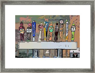 Beer Taps 2 Duval Street Key West Pop Art Style Framed Print