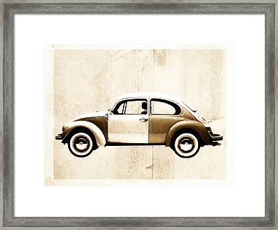 Beetle Car Framed Print by David Ridley