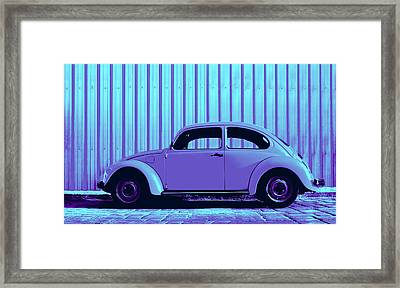 Beetle Pop Lavender Framed Print by Laura Fasulo