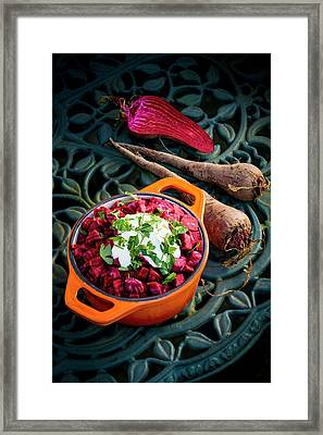 Beetroot With A Garnish Framed Print