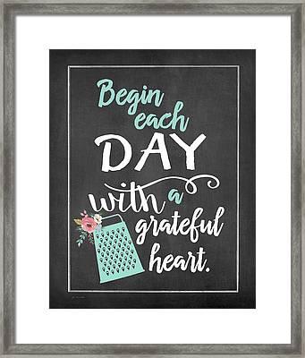 Begin Each Day Framed Print by Jo Moulton