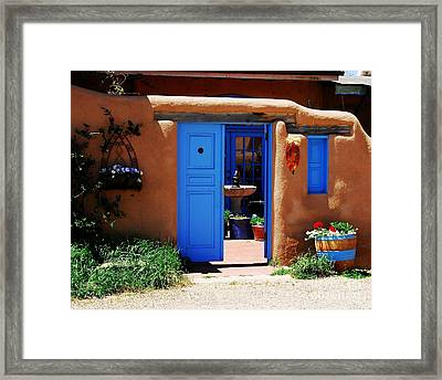 Behind A Blue Door 1 Framed Print