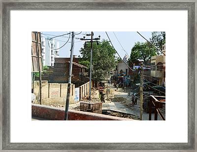 Behind The Scenes Framed Print by Linda Phelps