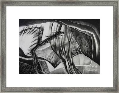 Behind The Veil Framed Print