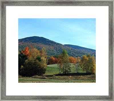 Belknap Mountain Framed Print by Mim White