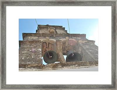 Framed Print featuring the photograph Bell Tower 1584 by George Katechis