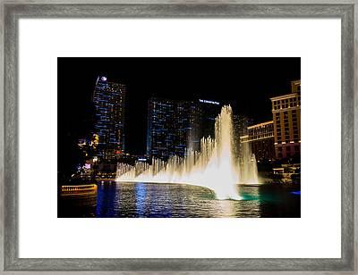Bellagio Fountain Framed Print by Zachary Cox