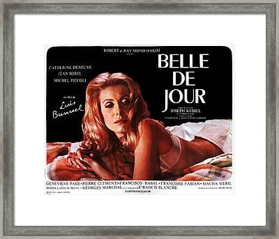 Belle De Jour, Catherine Deneuve Framed Print by Everett