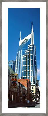 Bellsouth Building In Nashville Framed Print by Panoramic Images