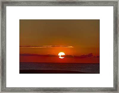 belmar sunrise New Jersey 2 Framed Print by Geraldine Scull